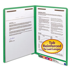 SMD25140 - Smead® Heavyweight Colored End Tab Folders with Fasteners
