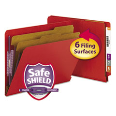 SMD26783 - Smead® Colored Pressboard End Tab Classification Folders w/SafeSHIELD™ Coated Fasteners
