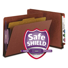 SMD26855 - Smead® Extra-Heavy Recycled End Tab Classification Folders w/SafeSHIELD™ Coated Fasteners