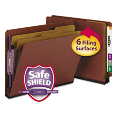 SMD26860 - Smead® Extra-Heavy Recycled End Tab Classification Folders w/SafeSHIELD™ Coated Fasteners