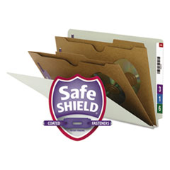 SMD29710 - Smead® Extra-Heavy 2 Pocket Divider End Tab Classification Folders with SafeSHIELD™ Coated Fasteners