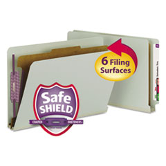 SMD29800 - Smead® Extra-Heavy Recycled End Tab Classification Folders w/SafeSHIELD™ Coated Fasteners
