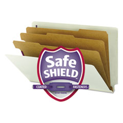 SMD29820 - Smead® Extra-Heavy Recycled End Tab Classification Folders w/SafeSHIELD™ Coated Fasteners
