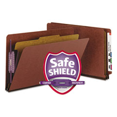 SMD29855 - Smead® Extra-Heavy Recycled End Tab Classification Folders w/SafeSHIELD™ Coated Fasteners