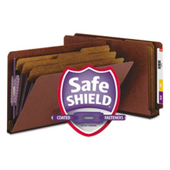 SMD29865 - Smead® Extra-Heavy Recycled End Tab Classification Folders w/SafeSHIELD™ Coated Fasteners