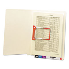 SMD34112 - Smead® Heavyweight Manila Reinforced End Tab Folders With U-Clip