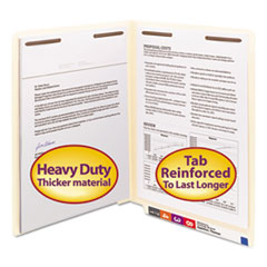 SMD34215 - Smead® Heavyweight Manila End Tab Folders with Fasteners