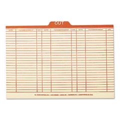 SMD53910 - Smead® Manila Top Tab Charge-Out Record Guides