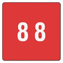 SMD67428 - Smead® Numerical End Tab File Folder Labels