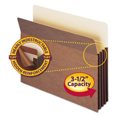 SMD73380 - Smead® Redrope Tuff® Pocket Drop Front File Pockets with Tyvek® Lined Gussets