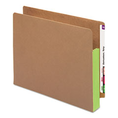 SMD73680 - Smead® Redrope Drop Front End Tab File Pockets with Colored Tyvek® Gussets