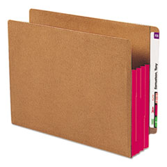 SMD73686 - Smead® Redrope Drop Front End Tab File Pockets with Colored Tyvek® Gussets