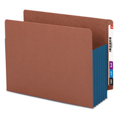 SMD73689 - Smead® Redrope Drop Front End Tab File Pockets with Colored Tyvek® Gussets