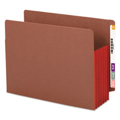 SMD73696 - Smead® Redrope Drop Front End Tab File Pockets with Colored Tyvek® Gussets