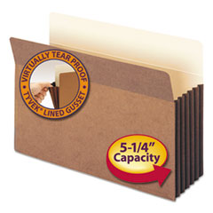 SMD74274 - Smead® Redrope Drop Front File Pockets with Tyvek® Lined Gussets