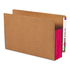 SMD74686 - Smead® Redrope Drop Front End Tab File Pockets with Colored Tyvek® Gussets