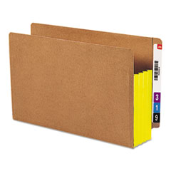 SMD74688 - Smead® Redrope Drop Front End Tab File Pockets with Colored Tyvek® Gussets