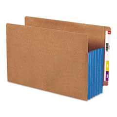 SMD74689 - Smead® Redrope Drop Front End Tab File Pockets with Colored Tyvek® Gussets