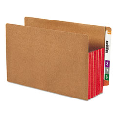 SMD74696 - Smead® Redrope Drop Front End Tab File Pockets with Colored Tyvek® Gussets
