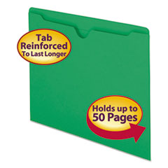 SMD75503 - Smead® Colored File Jackets with Reinforced Double-Ply Tab