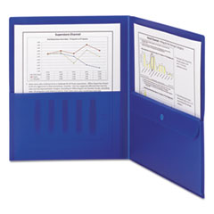 SMD87701 - Smead® Poly Two-Pocket Folders with Security Pocket