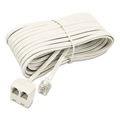 SOF04130 - Softalk® Telephone Extension Cord, Plug/Dual Jack