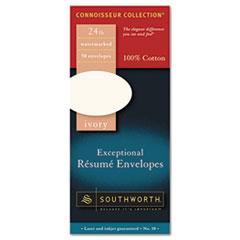 SOUR1410L - Southworth® 100% Cotton Résumé Envelope