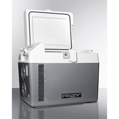 SMASPRF26M - Summit ApplianceAccucold Medical® Portable 12V/24V Cooler Capable Of Operating At -18º C or Standard Refrigerator Temperatures with Lock and Trolley Included