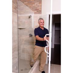 SRX1100-W - StanderSecurity Pole & Curve Grab Bar - Transfer Pole & Bathroom Assist Handle -White