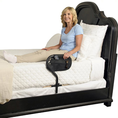 SRX2041 - StanderBed Cane with Organizer Pouch Wood Base
