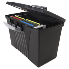 STX61510U01C - Storex Portable File Box with Organizer Lid