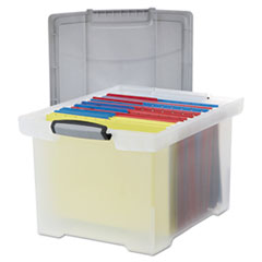 STX61530U01C - Storex Portable File Tote with Locking Handles