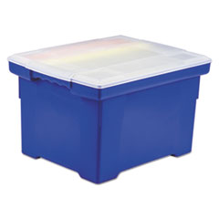 STX61554U01C - Storex Plastic File Tote