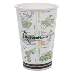 SVAC010RNPK - NatureHouse® Compostable Insulated Paper/PLA Corn Plastic Lined Hot Cups