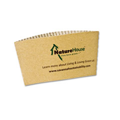 SVAS01 - NatureHouse® Unbleached Paper Hot Cup Sleeves
