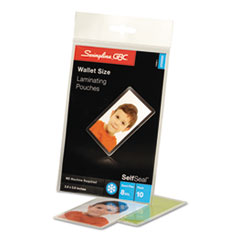 SWI3745685 - Swingline™ SelfSeal™ Clear Laminating Pouches