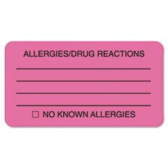 TAB01730 - Tabbies® Allergy Warning Labels