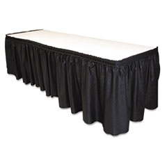 TBLLS2914BK - Tablemate® Table Set® Linen-Like Table Skirting