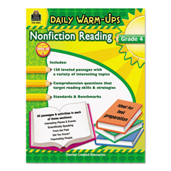 TCR5034 - Teacher Created Resources Daily Warm-ups: Nonfiction Reading
