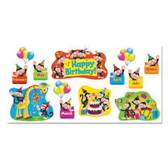 TEP8341 - TREND® Monkey Mischief™ Classic Accents®  Bulletin Board Sets