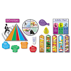 TEPT8173 - TREND® MyPyramid.gov-Steps to a Healthier You Bulletin Board Set