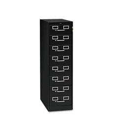 TNNCF846BK - Tennsco Eight-Drawer Multimedia/Card File Cabinet