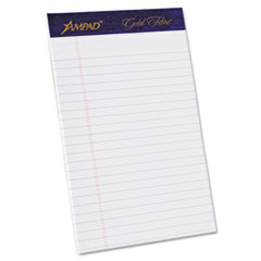TOP20018 - Ampad® Gold Fibre® 20-lb. Watermarked Writing Pads