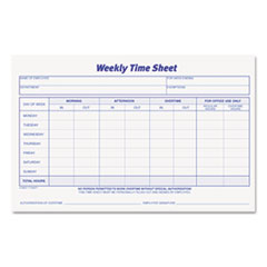 TOP30071 - TOPS® Weekly Time Sheets