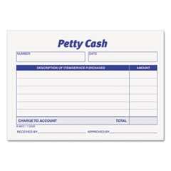 TOP3008 - TOPS® Received of Petty Cash Slips