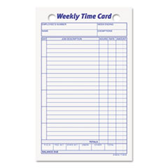 TOP3016 - TOPS® Weekly Employee Time Card