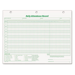 TOP3284 - TOPS® Daily Attendance Card