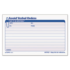 TOP46373 - TOPS® Avoid Verbal Orders Manifold Book