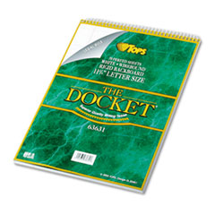 TOP63631 - TOPS® Docket® Ruled Wirebound Pad with Cover