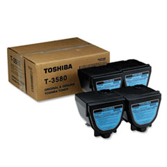 TOST3580 - Toshiba T3580 Toner, 4000 Page-Yield, 4/Carton, Black